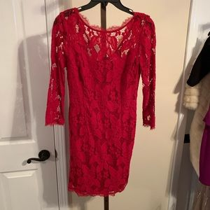 Size 6 red lace dress